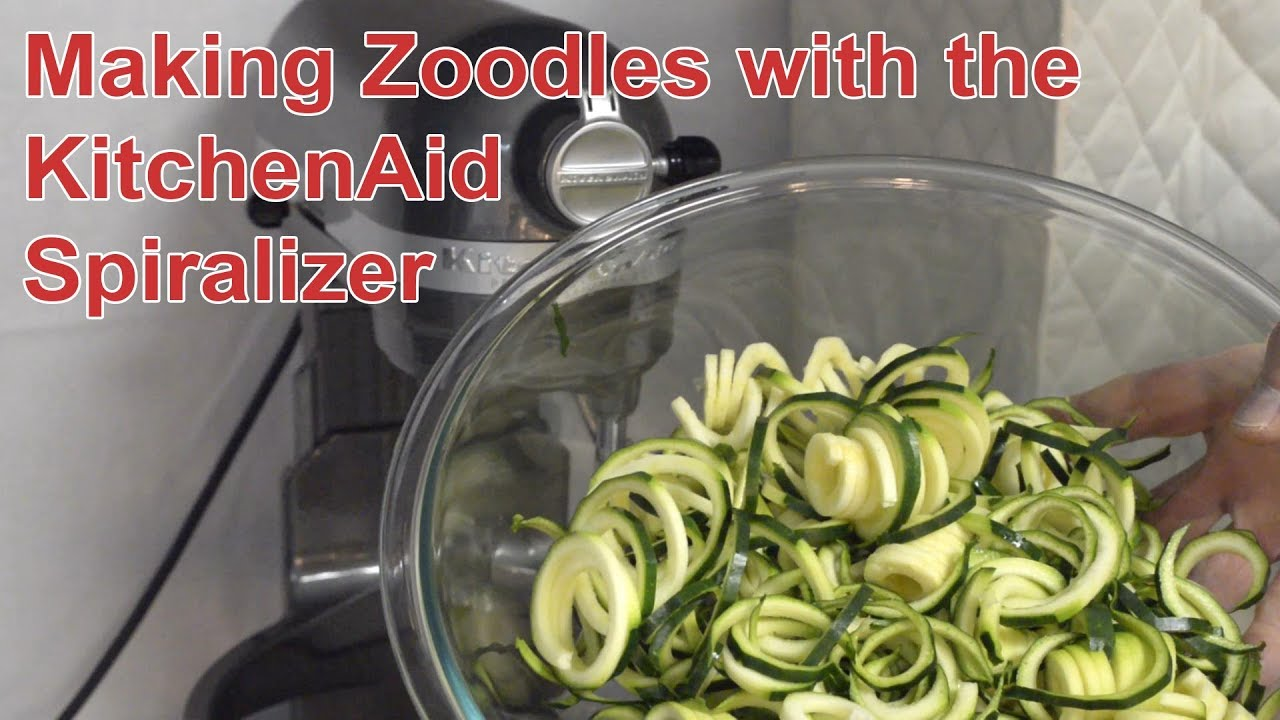 Making Zucchini Noodles Zoodles With The Kitchenaid Spiralizer
