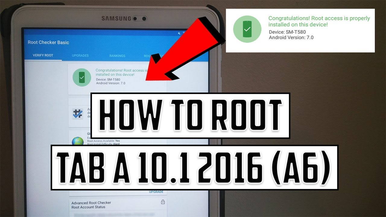 How To Root Galaxy Tab A6 10 1 2016 (SM-T580) + TWRP Recovery - Android 7  and 6 1 1