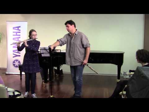 Master class on the flute Vincent LUCAS. Uliana ZHIVITSKAYA. Georges HUE. Fantaisie