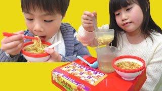 ラーメン屋さんごっこ ディズニー ミニうどん ミニラーメン こうくんねみちゃん Play Ramen shop Disney Mini Udon Mini Ramen thumbnail