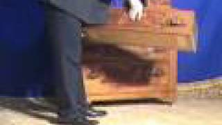 Mi68 Victorian Walnut Dresser  Handkerchief, Inlays