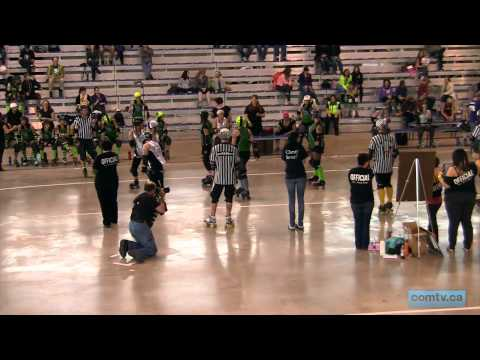 comtv.ca - SPORTS: Gas City Rollers VS Lakeland Lady Killers @ Calgary Olympic Oval (part 1/2)
