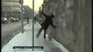 Man slipping on ice in Dublin - RTE News - EPIC FAIL!.flv