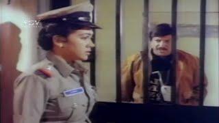 Vishnuvardhan surrendered himself to Lady Police   Best Scenes of Nanna Shathru Kannada Movie