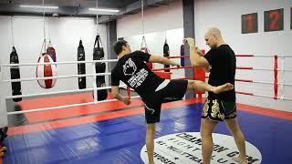 Видео-урок по тайскому боксу | Боковой удар ногой