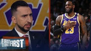 Nick Wright reacts to the LeBron, Lakers' OT win in Denver | NBA | FIRST THINGS FIRST