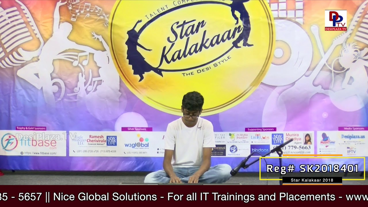 Participant Reg# SK2018-401 Performance - 1st Round - US Star Kalakaar 2018 || DesiplazaTV
