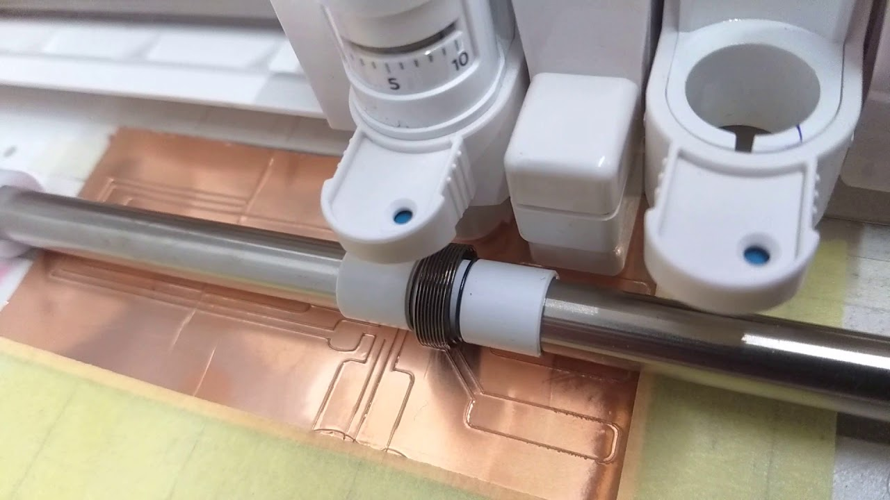 Electronic Copper Circuit stickers using a Cameo vinyl