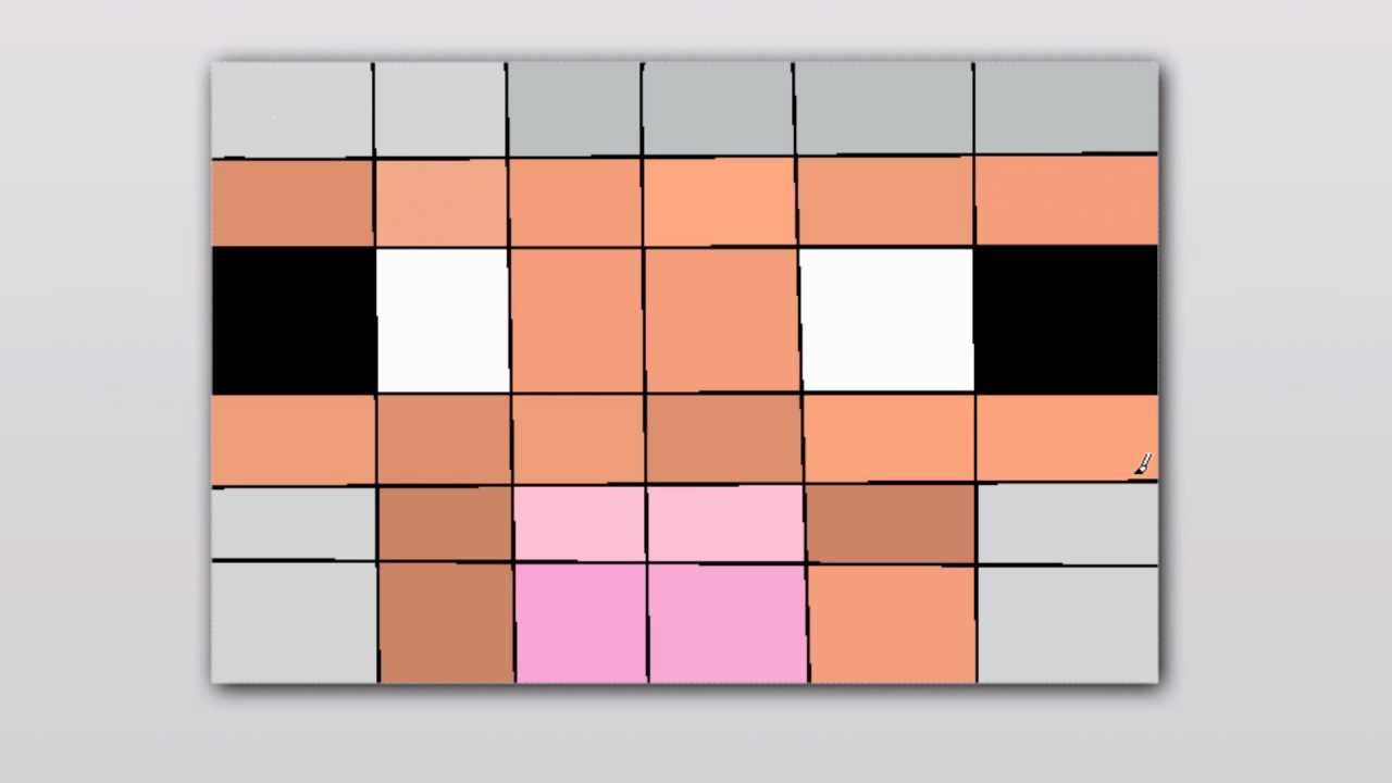Paintbrush speedart #2 Sheep Face - Minecraft draw