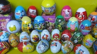 Repeat youtube video 40 surprise eggs Kinder Surprise Disney Toy Story Shrek Peppa Pig Thomas Mickey Mouse