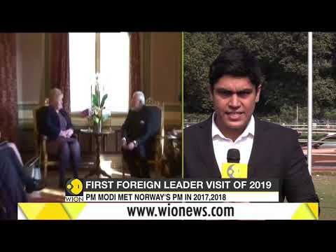 Norway PM Erna Solberg on a 3-day visit to India from January 7th