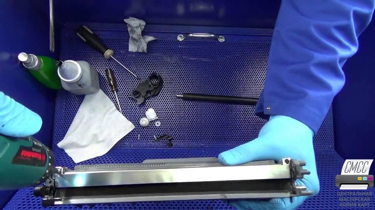 Заправка лазерного картриджа своими руками видео фото 32