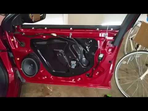 2014-2018 GM Chevrolet Impala Plastic Door Panel Removed To Upgrade OEM Speaker