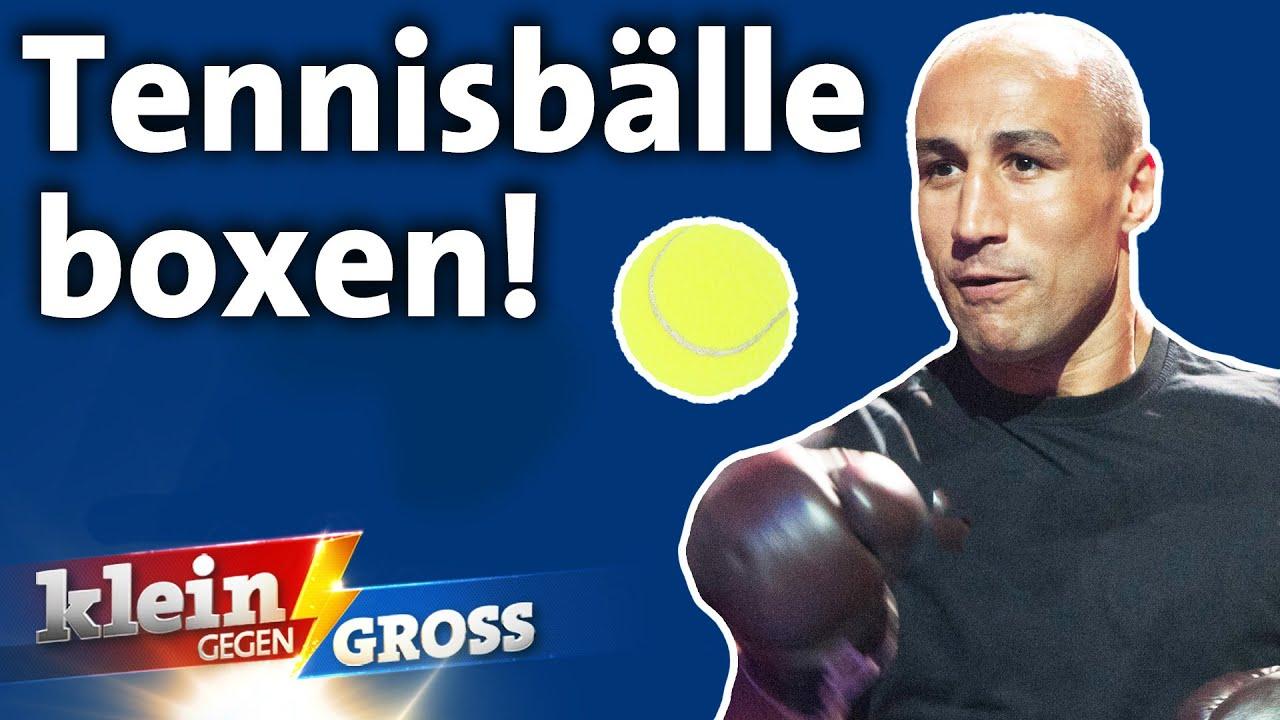 Highspeed-Tennisbälle in kleines Ziel boxen: Box-Legende Arthur Abraham vs. Luan   Klein gegen Groß