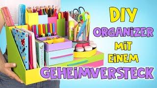 DIY-Organizer aus Pappe mit einem Geheimfach  🕵🏻♀️💰