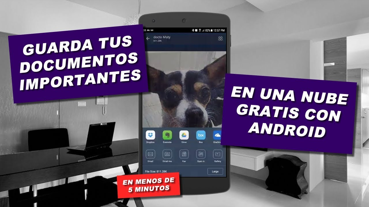 Guarda tus documentos importantes rápido, seguro y GRATIS con Android