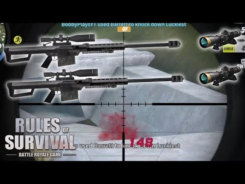 DOUBLE BARRETT 8X TROLLING IN RULES OF SURVIVAL!