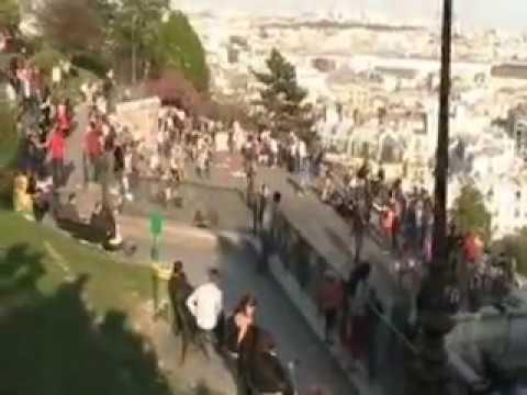 Paris Montmartre Sacré Coeur le Funiculaire 観光事業パリを訪問してください