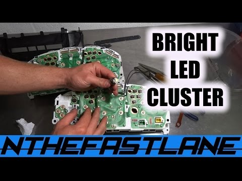 ▶️Gauge Cluster LED'S & Notification Lenses Swap: (Honda Civic 92-00)💡