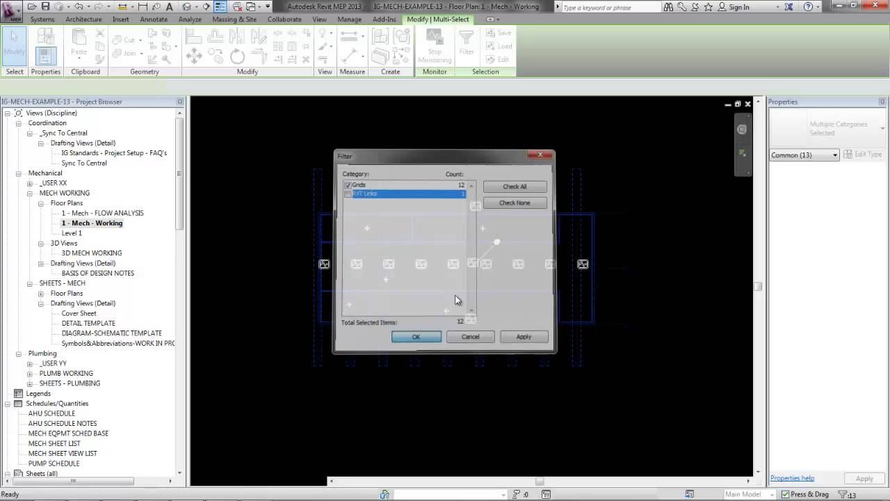 How to CopyMonitor Grids and Levels for MEP in Revit 2013  YouTube