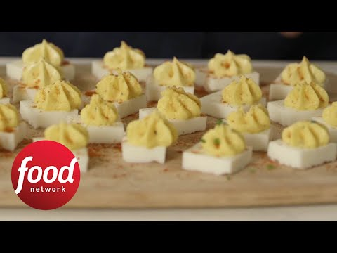 Ridiculously Easy Square Deviled Eggs Food Network Youtube