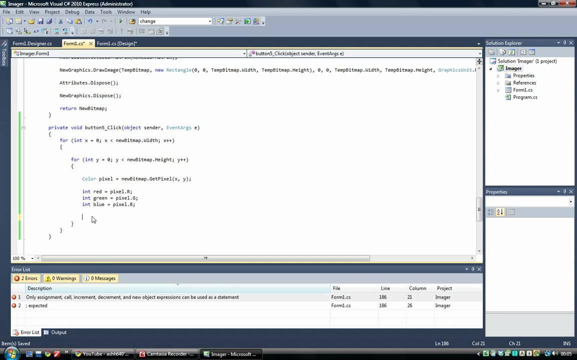 C# Advanced Tutorial 6 - Image Processing - Invert
