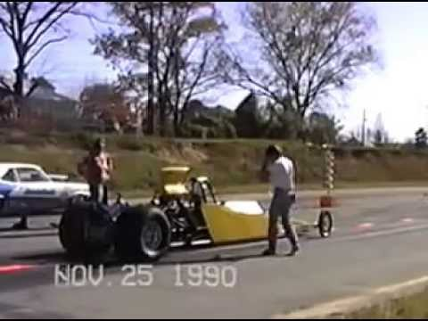 Rail Dragster Cunningham, Pope, Martin Racing Team 1990, Phenix City Dragstrip, Alabama