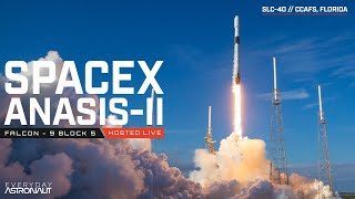 Watch SpaceX launch their Falcon 9 rocket carrying Anasis-II
