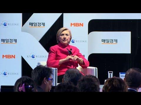 Hillary Clinton condamne Trump sur la Corée du Nord