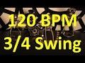 120 BPM - Swing 3/4 - 60s Ballad - Drum track - Metronome
