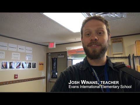Josh Winans, Music Teacher-Evans International Elementary School