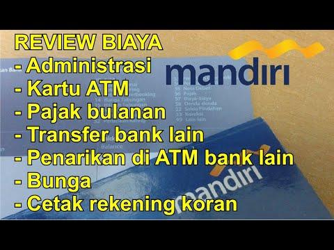 Review Biaya-Biaya Rekening Tabungan Bank Mandiri