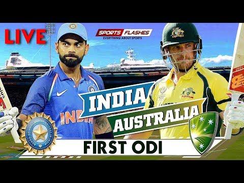 Live IND vs AUS 1st ODI Cricket Match Hindi commentary   SportsFlashes
