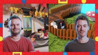 LEGO Worlds vs LEGO Bricks - Fairground Rides - LEGO Heads