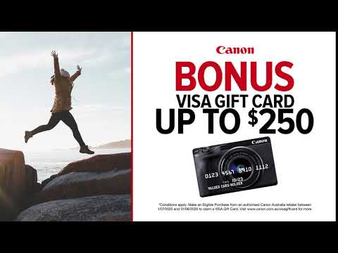 Canon Gift Card Available On SelecTED Gift Cards