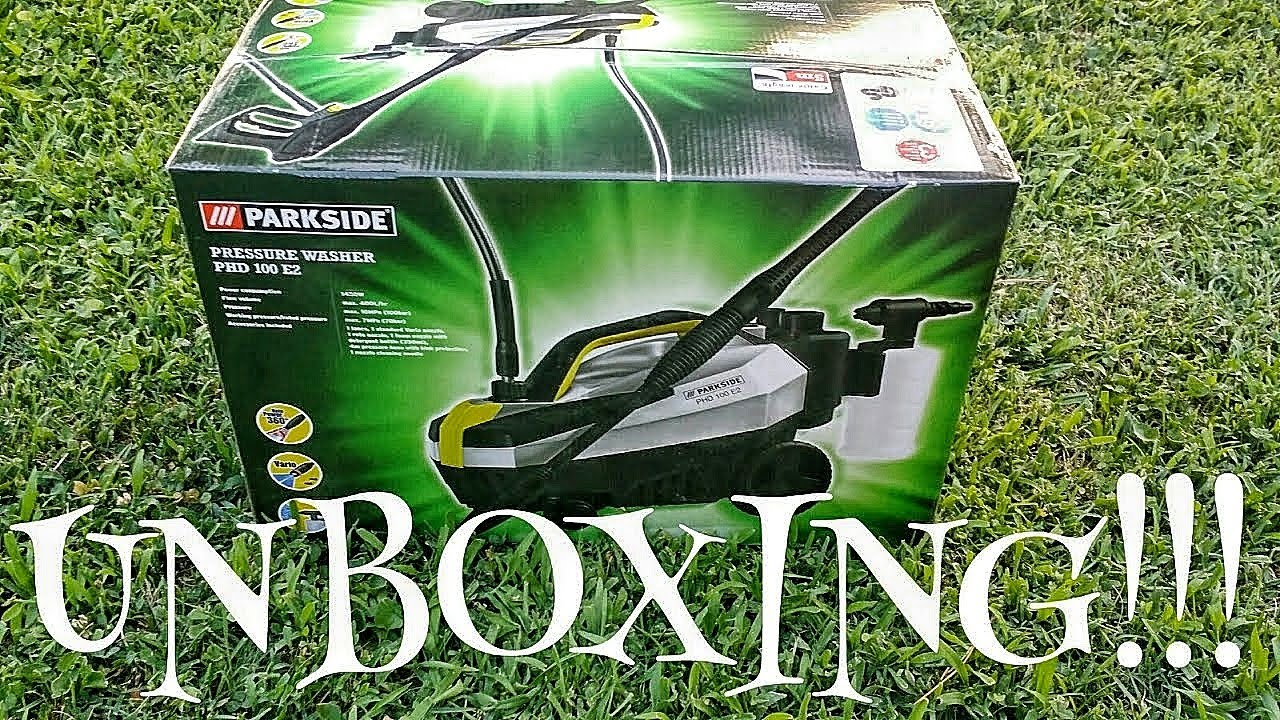 Parkside pressure washer phd 100 e2 unboxing youtube for Idropulitrice parkside