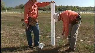 5c2. Wood Posts | Centaur Horse Fence Installation Video