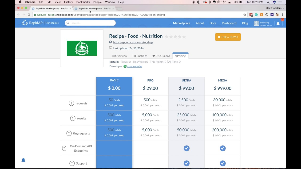 How to connect to the recipe food nutrition api from spoonacular how to connect to the recipe food nutrition api from spoonacular rapidapi marketplace forumfinder Gallery