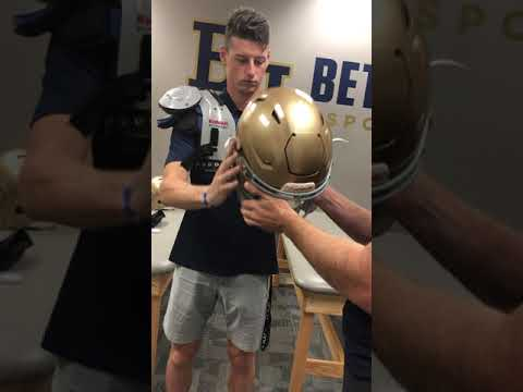 Football Helmet and Shoulder Pads fitting