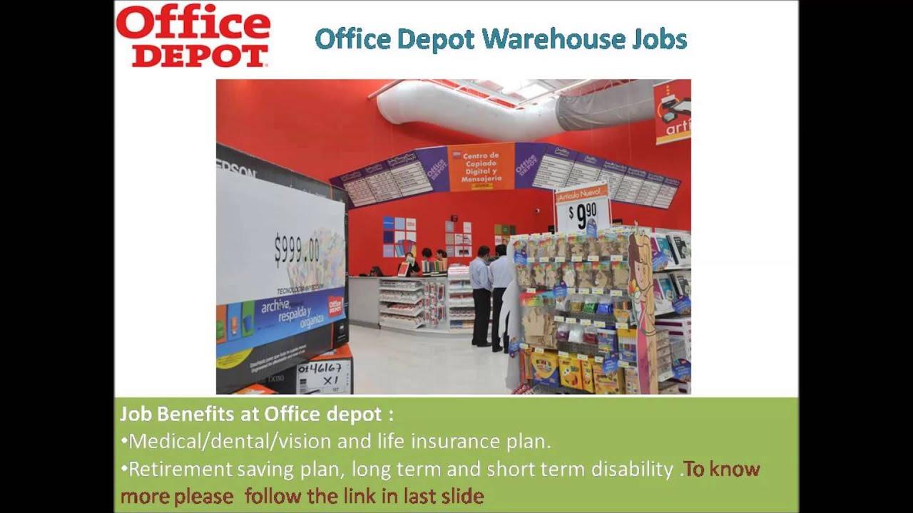 fice Depot Warehouse Jobs