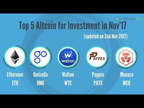 Top 5 Altcoin to Invest in month Nov'2017