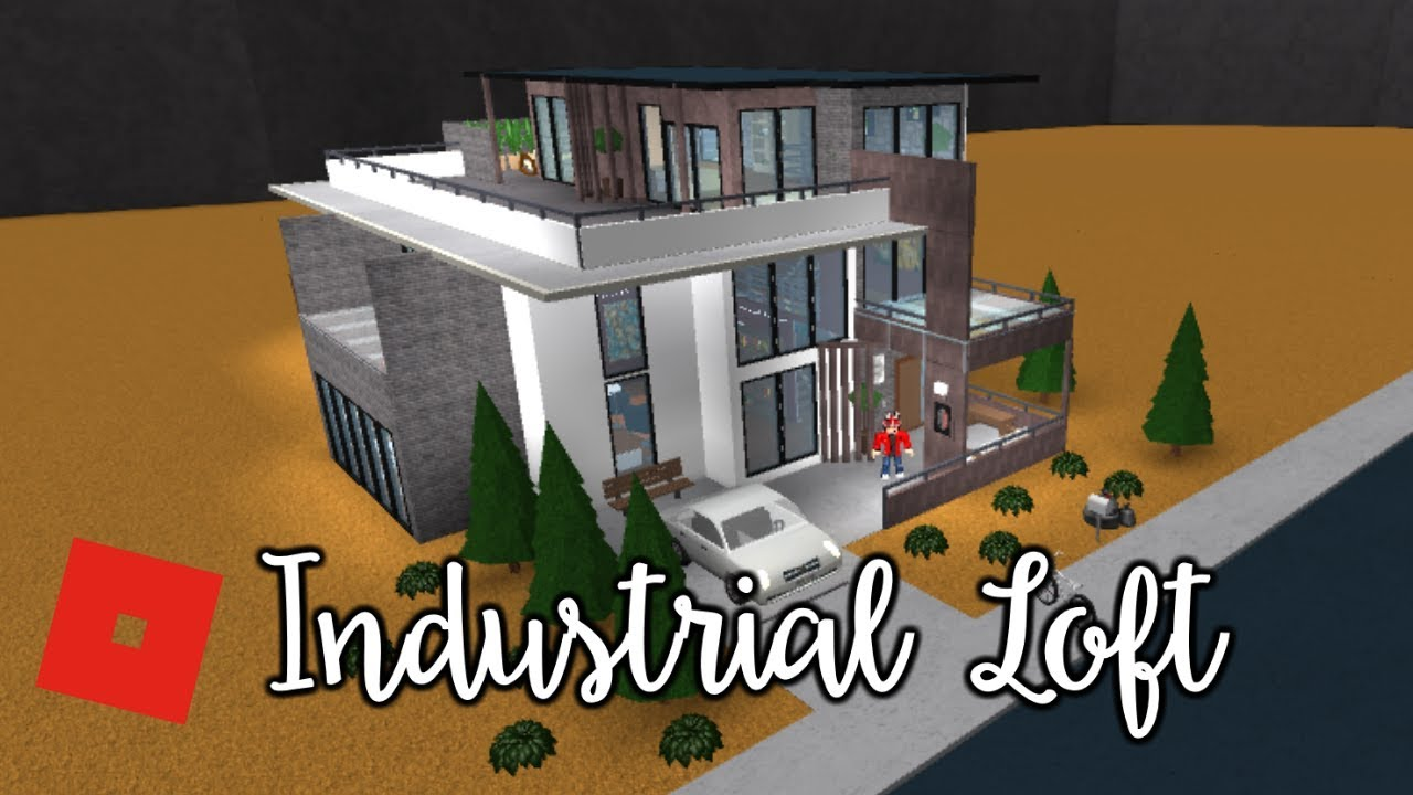 Welcome to bloxburg industrial loft speed build youtube for Modern house design bloxburg