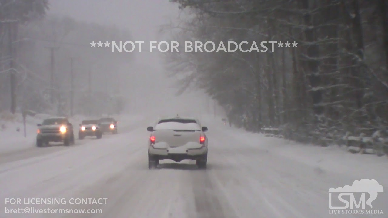 12-9-18 Greensboro, NC - Snow Covered Roads and Dash-Cam