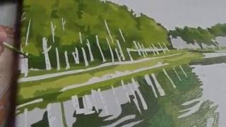 Раскрашивание картины по номерам(Видео раскрашивания картины по номерам