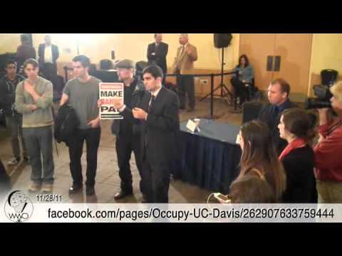 Occupy UC Davis Occupies Nov 28th UC Regents Meeting