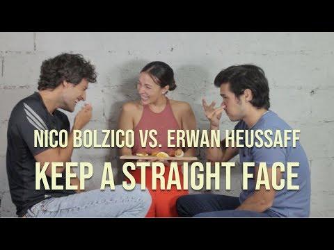 Keep A Straight Face Challenge  Nico Bolzico vs Erwan Heussaff