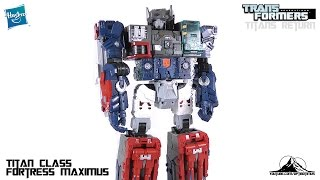 Transformers Titans Return Titan Class FORTRESS MAXIMUS Video Review(IN STOCK NOW at BigBadToyStore http://bit.ly/BBTSFortMAX Check out my PATREON! http://www.patreon.com/optibotimus Twitter: http://twitter.com/optibotimus ..., 2016-06-03T02:34:18.000Z)