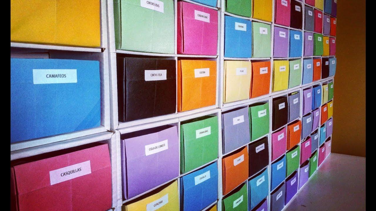 Organizador de cart n para los materiales y herramientas - Organizador de herramientas ...
