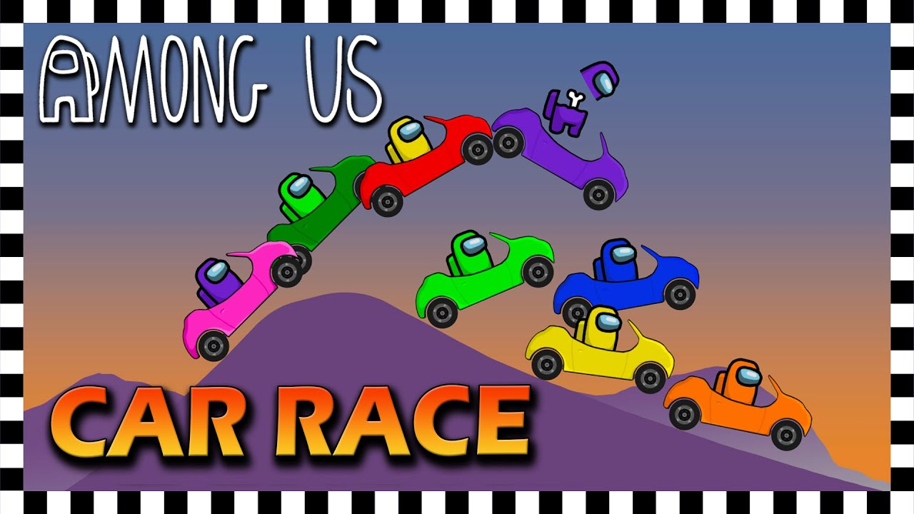 Among Us Inspired Car Race