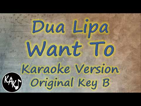 Dua Lipa - Want To Karaoke Lyrics Instrumental Cover HD Original Key B